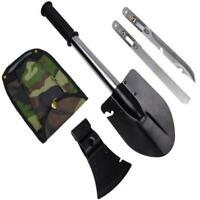Outdoor Survival Emergency Gear Camping Handle Shovel Axe Knife Saw Gut Tool