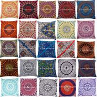 Large Mandala Euro Sham Cushion Cover 26x26 Decorative Square Throw Pillow Case