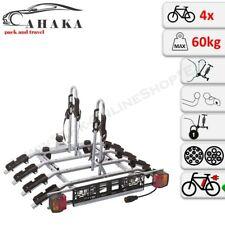 Towbar Mounted Tilting 4 Bike Rack Cycle Carrier Steel Hitch Platform Transport
