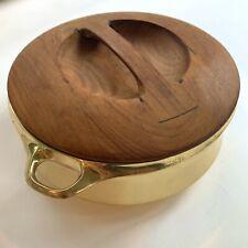 Jens H. Quistgaard Brass Pot w Solid Teak Lid Dansk Designs MCM Chafing Dish JHQ