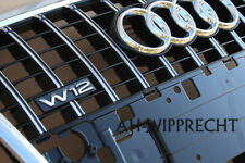Original Audi A8 S8 W12 4E Tuning Kühlergrill Grill Schwarz Chrom Frontgrill OEM