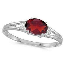 Hand Ring 14K White Gold Oval Ruby & Diamond Right