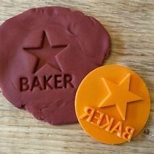 Star Baker Message embosser stamp cookie cutter fondant cupcake decoration