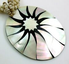 necklace ; Ca292 Stunning Flower Mother-Of-Pearl Beads