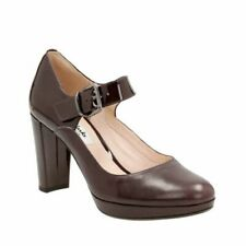 Clarks Smart Heeled Shoes KENDRA GABY Aubergine Leather UK 5.5 / 39 RRP £60