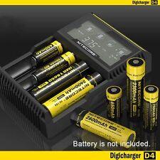 Nitecore D4 LCD Inteligente Cargador De Batería Para LI-ION 26650 18650 ni-mh&ni - Cd
