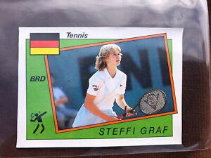 SUPERB STEFFI GRAF PANINI SUPERSPORT CARD U.K EDITION 1987 No 198