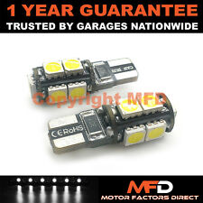 2X BLANCO W5W 501 LUZ LATERAL INTERIOR MATRÍCULA REPETIDOR 9 SMD BOMBILLAS LED
