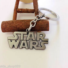 STAR WARS LOGO Full Metal Key chain Keychain Brushed steel collectible cosplay