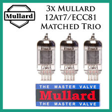 New 3x Mullard 12AT7 / ECC81 | Matched Trio / Three Tubes | Free Ship