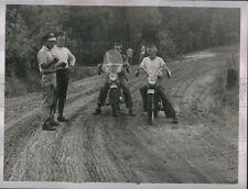 1954 Photo Motorcycle Racing: Ray Dorsey Fauset Aj Harris Edwin Clency 8X6