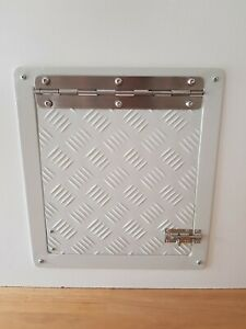 Custom Metal Dog Door MEDIUM Surfmist cat doggy pet flap