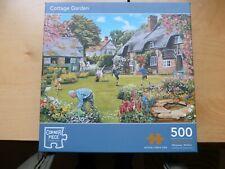 Jigsaw 500 Pieces Cottage Garden By Trevor Mitchell Vgc Cornerpiece Jigsaw & Box