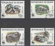 Timbres Reptiles Serpents Bénin 898/901 o lot 27115