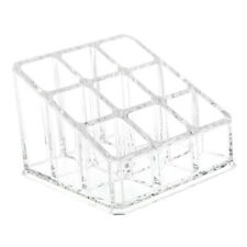Makeup 9 Lipstick Acrylic Storage Display Stand Case Rack Holder Organizer X2C4