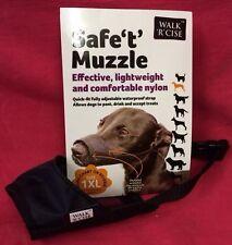 Dog Muzzle Size 1xl Black Padded Nylon 13 Cm Whippet Dachshund Etc