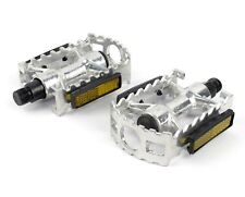 "1 Pair Aluminium Alloy Mountain Road Bike Bicycle 9/16"" Flat Bearing Wide Pedals"