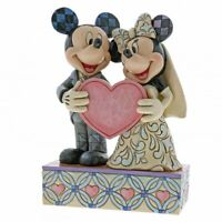 Two Souls, One Heart Bride & Groom Wedding Mickey Mouse & Minnie Mouse Figurine