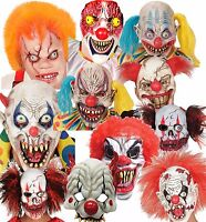 Adult Evil Circus Clown Mask Halloween Fancy Dress Costume Cosplay