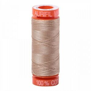 Aurifil Mako Cotton Thread 50 Weight 220 Yard Spool Color 2314 Beige