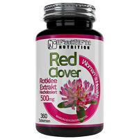Rotklee Extrakt 360 Tabletten je 500mg Menopause Red Clover Wechseljahre XXL