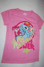 """Girls S/S Tee Shirt My Little Pony """"Pony Power"""" Rainbow Dash Pinkie Pie Xl 14-16"""