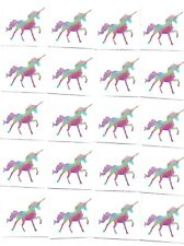 20 x Cute Glitter Rainbow Unicorn Temporary Tattoos -  Great Kids Party Favours