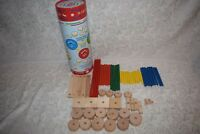 Schylling Tinker Toy Compatible Toy Building Pieces Wooden Set