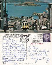 1961 CABLE CAR SAN FRANCISCO CALIFORNIA UNITED STATES POSTCARD