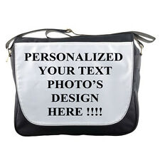 New PERSONALIZED Custom Your Logo Design PHOTO Text MESSENGER BAG FREE shipping