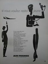 1970-71 PUB AIR FRANCE AIRLINE BOEING AIRLINER HOTESSE STEWARDESS FRENCH AD