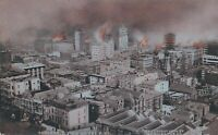 SAN FRANCISCO CA - Panoramic View of the 1906 Fire Rotograph Postcard - udb