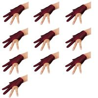 Lot of 10 Wine Left handed Champion Billiards Glove (10 Gloves per package)