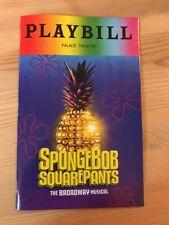June 2018 Pride Playbill Spongebob Squarepants Broadway Musical NYC Rare