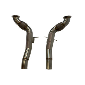 Ferrari 488 Stainless Steel High Flow Exhaust Downpipes Decat with Heat Shield
