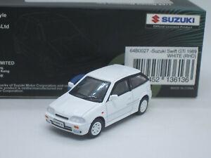 Suzuki Swift GTi Twin Cam 16 Valve 1989 white 1/64 BM Creations