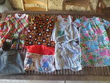Lot 7 vêtement VINTAGE années 70 80 fille robe blouse tablier dress rétro ancien
