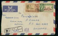 Mayfairstamps Sarawak 1961 Lawas Registered Airmail Cover wwf47569