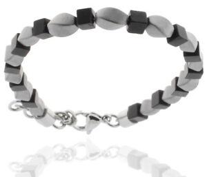 Pearl Bracelet Onyx Dice & Hematite Men's STORCH SCHMUCK Made IN Germany