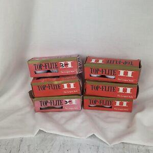 Vintage 1996 Top Flite II Golf Balls 6, 18 Balls, Brand New W/ Box Damage