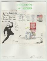 Quimby zine mail art original drawing David Greenberger 1987 Boston