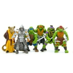 6pcs TMNT Mini Ninja Turtles Foot Soldier Action Figure Collection Cartoon Toys