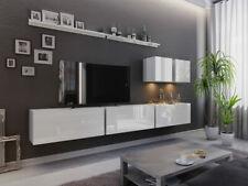Wohnwand Livignox VII TV-Lowboard Hängeschrank Hochglanz Mediawand Wohnzimmer