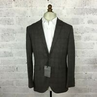 John Lewis Tailored Subtle Check Fawn Suit Jacket BNWT RRP 175 Size 44R Fab!