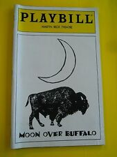 April 1996 - Martin Beck Theatre Playbill w/Ticket - Moon Over Buffalo - Goulet