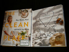 Gwyneth Paltrow signed The Clean Plate 1/1 HC book NOT TIPPED signed in person