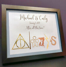Personalized Harry Potter Wedding Frame, Harry Potter Anniversary Frame, Always