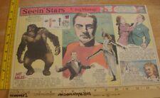 Ginger Rogers Eleanor Powell Seein' Stars Feg Murray 1940s Sunday color panel 3j