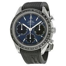 Omega Mens Speedmaster Racing Blue Automatic Swiss Made Watch 32632405003001