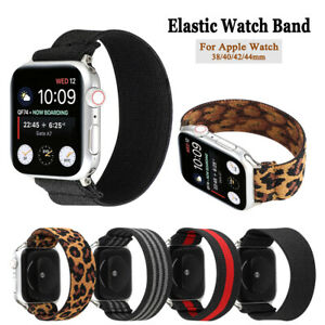 Elastic Strap Loop Watch Band For Apple iWatch Series 5/4/3/2/1 38/40 42/44mm